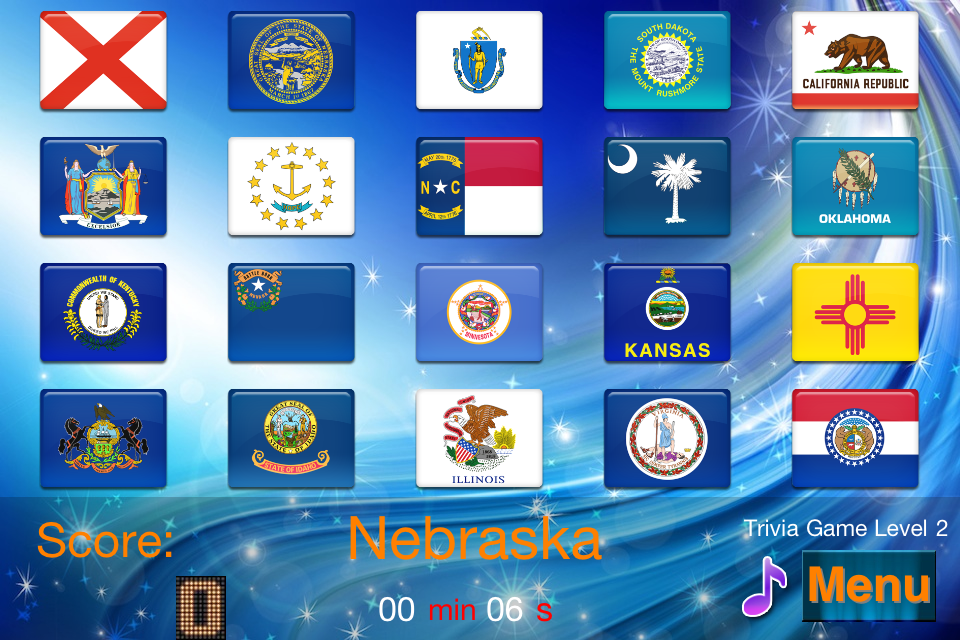 Screenshot Master USA State flags